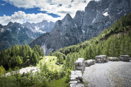 julian: View from the road to Vr�i? pass in Julian Alps in Slovenia