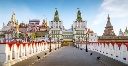 Panorama de Izmailovsky Kremlin en Moscú, Rusia Foto de archivo - 64195863