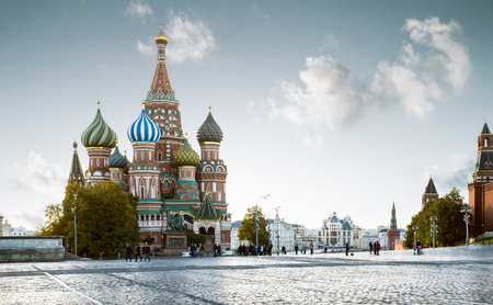 Saint Basils Cathedral on Red Square in Moscow, Russia 版權商用圖片