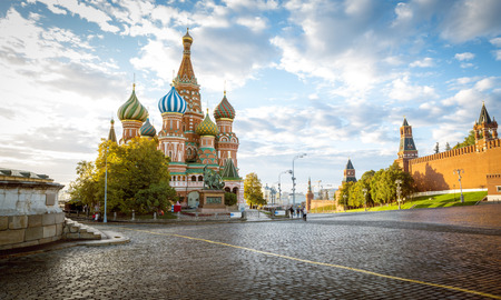 Saint Basils Cathedral on Red Square in Moscow, Russia 新聞圖片