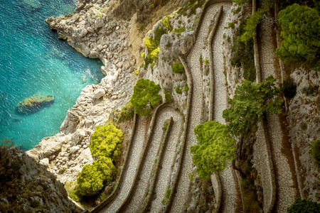 Via Krupp on Capri island, Italy Stock Photo