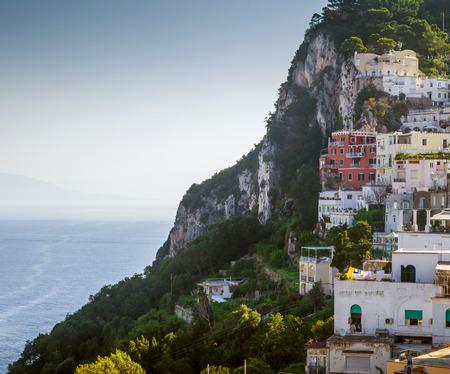 capri: Capri town on Capri Island in Campania, Italy Stock Photo