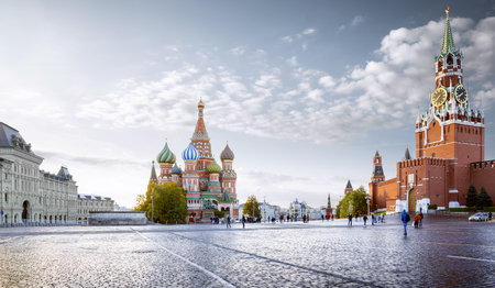 Panorama of Red Square in Moscow, Russia Фото со стока