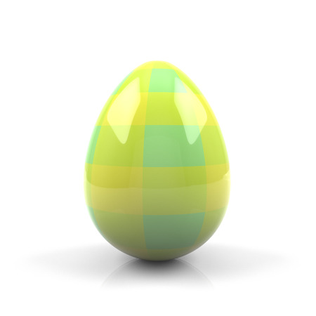 Colorful Easter egg isolated on white background - 3D rendering Stock Photo