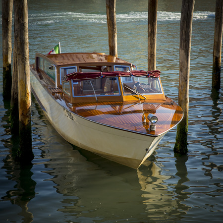 motorboat: Taxi motorboat in Venice, Italy