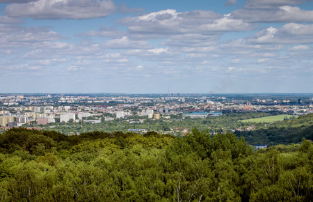 Panorama city of Krakow, Poland