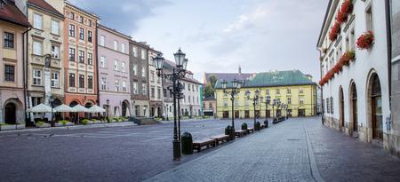 rynek: Panorama of little market square (Maly Rynek) in Krakow, Poland