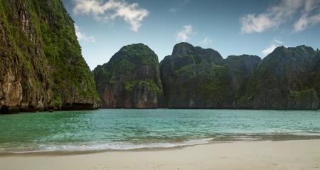 Maya beach on Phi Phi island, Thailand Stock Photo