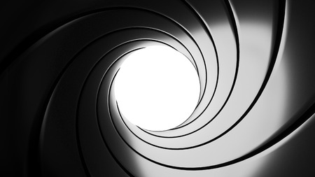 Gun barril efecto - ilustración 3D