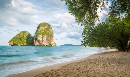 aonang: Railay beach in Krabi province, Thailand