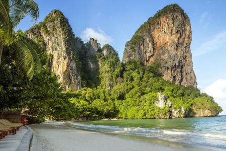 railay: Panorama of Railay beach in Krabi province, Thailand