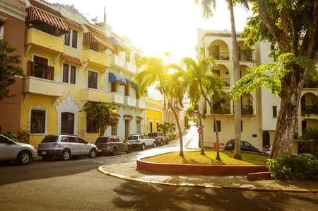 Street of Old San Juan in Puerto Rico Stock Photo
