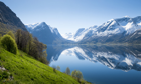 Panorama of fjord in Norway