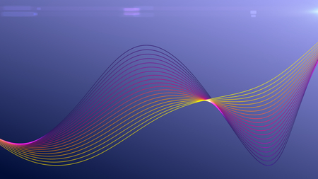 Abstract pattern of twisted lines with lens flare - futuristic background