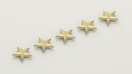 five star: five stars - high quality concept - 3D illustration