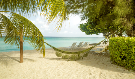 Panorama of Seven Mile Beach on Grand Cayman island, the Caribbeans