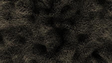 Brown bear fur - 3D illustration Stok Fotoğraf