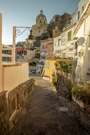 Corricella village on Procida Island in Italy Editorial