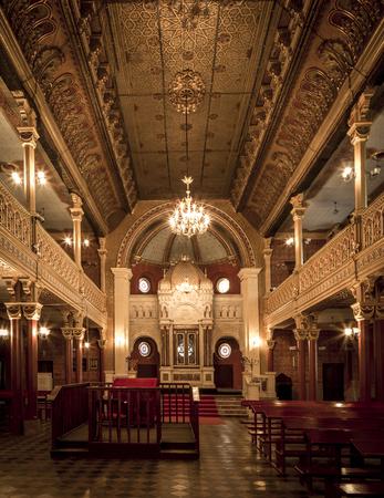 Synagogue interior in Jewish Quarter of Kazimierz, Poland Editoriali