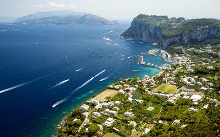 Aerial panorama of Capri island, Italy Stock Photo