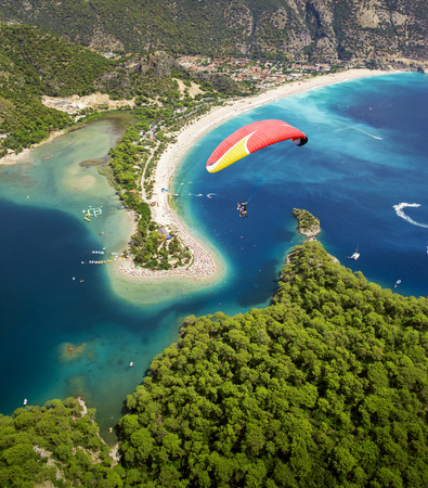 Aerial view of Blue Lagoon in Oludeniz, Fethiye, Turkey