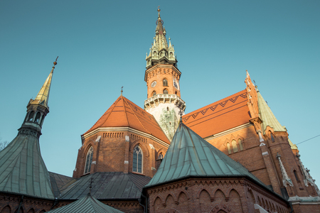St. Joseph's church in Podgorze district of Krakow city, Poland 版權商用圖片