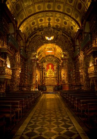 Sao Bento Monastery (Abbey of Our Lady of Montserrat) in Rio de Janeiro, Brazil Editorial