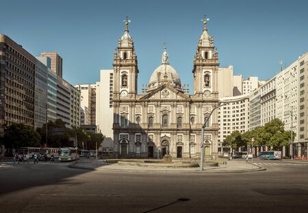 Rio de Janeiro, Brazil - December 15, 2017: Candelaria Church in downtown Rio de Janeiro, Brazil Редакционное