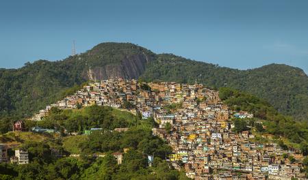 Favela Morro dos Prazeres in Rio de Janeiro, Brazil Editorial