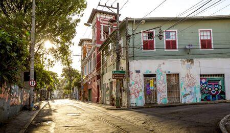 Rio de Janeiro, Brazil - circa December, 2017: Street view of Santa Teresa district in Rio de Janeiro, Brazil Foto de archivo - 128139703