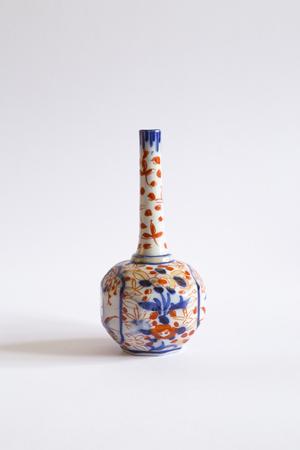 Vintage Porcelain Vase Isolated On White Background Stock Photo