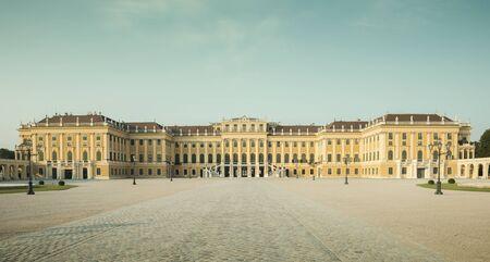 Vienna, Austria - August 03, 2014: Panorama of Schonbrunn palace in Vienna, Austria