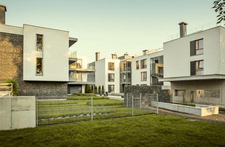Modern housing development Banco de Imagens