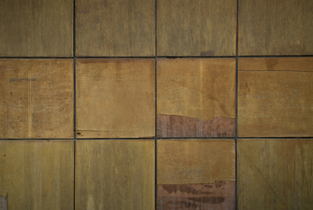 Squares of plywood texture background
