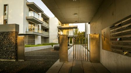 Modern settlement of residential buildings