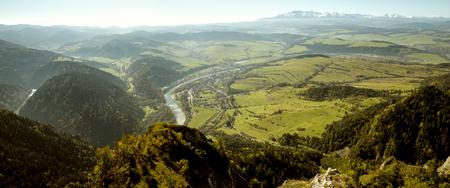 Beautiful panorama from Three Crowns peak on Tatra mountains, Poland Banco de Imagens