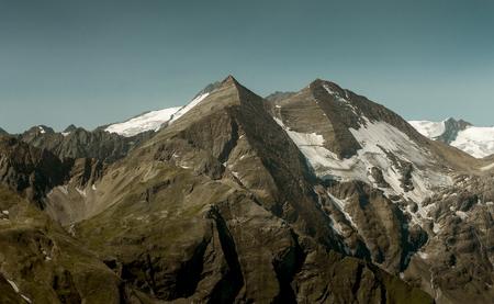 Austrian Alps view from Grossglockner Hochalpenstrasse, Austria Stock Photo