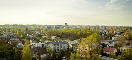 Panoramic skyline of Krakow city, Poland
