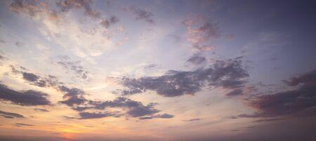 Dramatic sky at sunset Foto de archivo - 128741016
