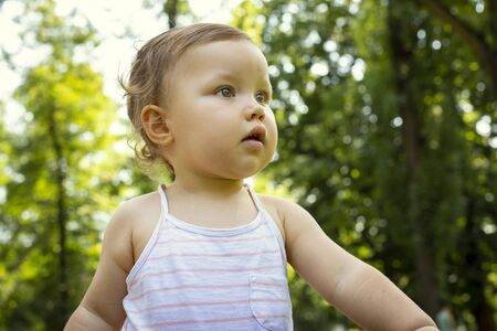 Portrait of a cute baby Foto de archivo - 129951868