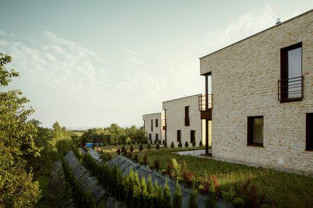 Contemporary architecture of house Foto de archivo - 130853914