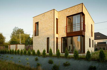 Modern house architecture Foto de archivo - 130853920