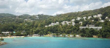 Panorama of Ocho Rios in Jamaica
