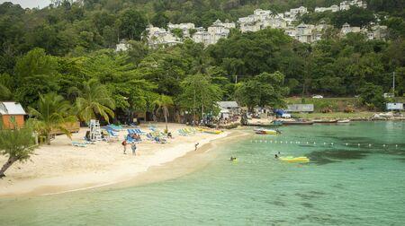 Beach in Ocho Rios, Jamaica Zdjęcie Seryjne