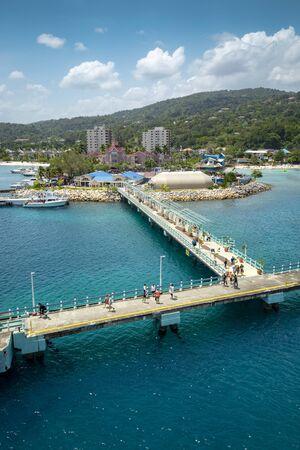 Port in Ocho Rios, Jamaica Stock Photo