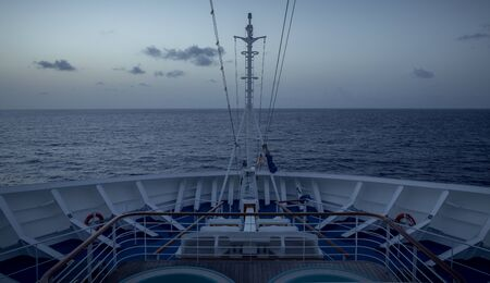 bow of a modern cruise ship 스톡 콘텐츠