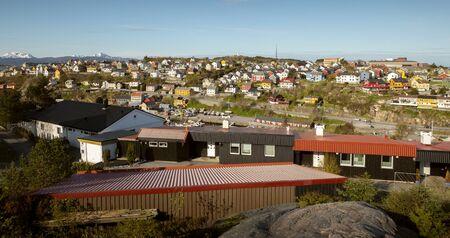 Panorama of Kristiansund town, Norway Фото со стока