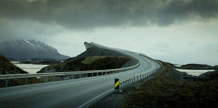 Atlantic road in Norway Фото со стока