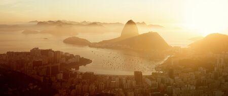 Aerial panorama of Rio de Janeiro city, Brazil Фото со стока
