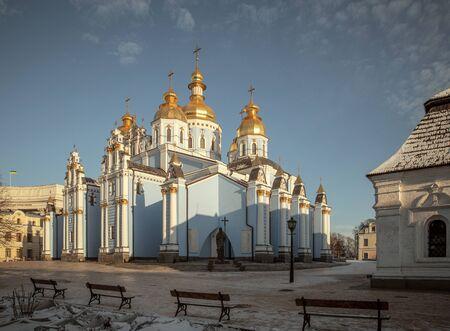 St. Michael's golden-domed monastery in Kiev, Ukraine Фото со стока
